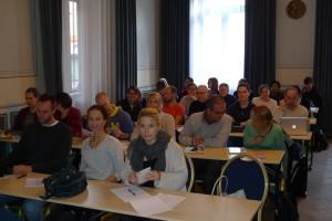 Föreläsningssalen, basal skelettkurs i Uppsala 2015