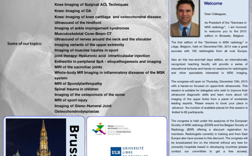 Seminarium i muskuloskeletal radiologi i Bryssel